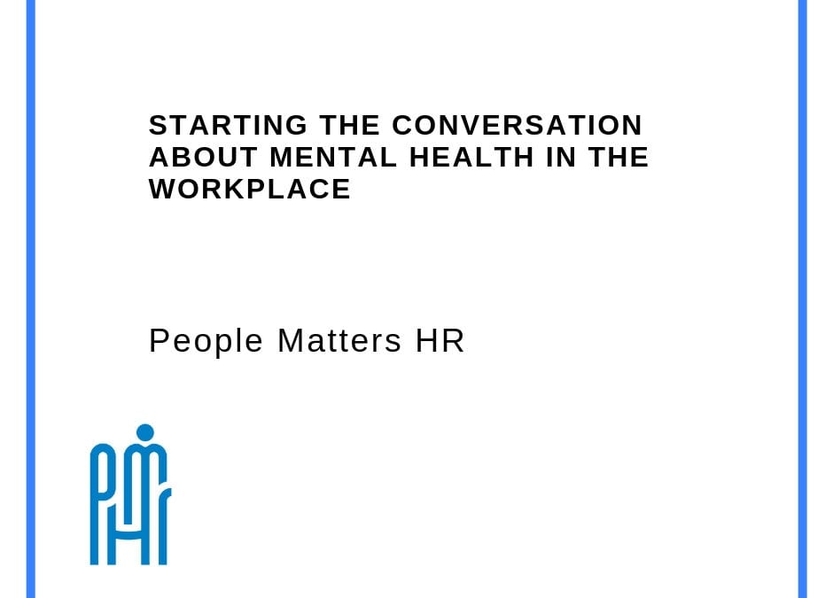 Starting the conversation about mental health in the workplace